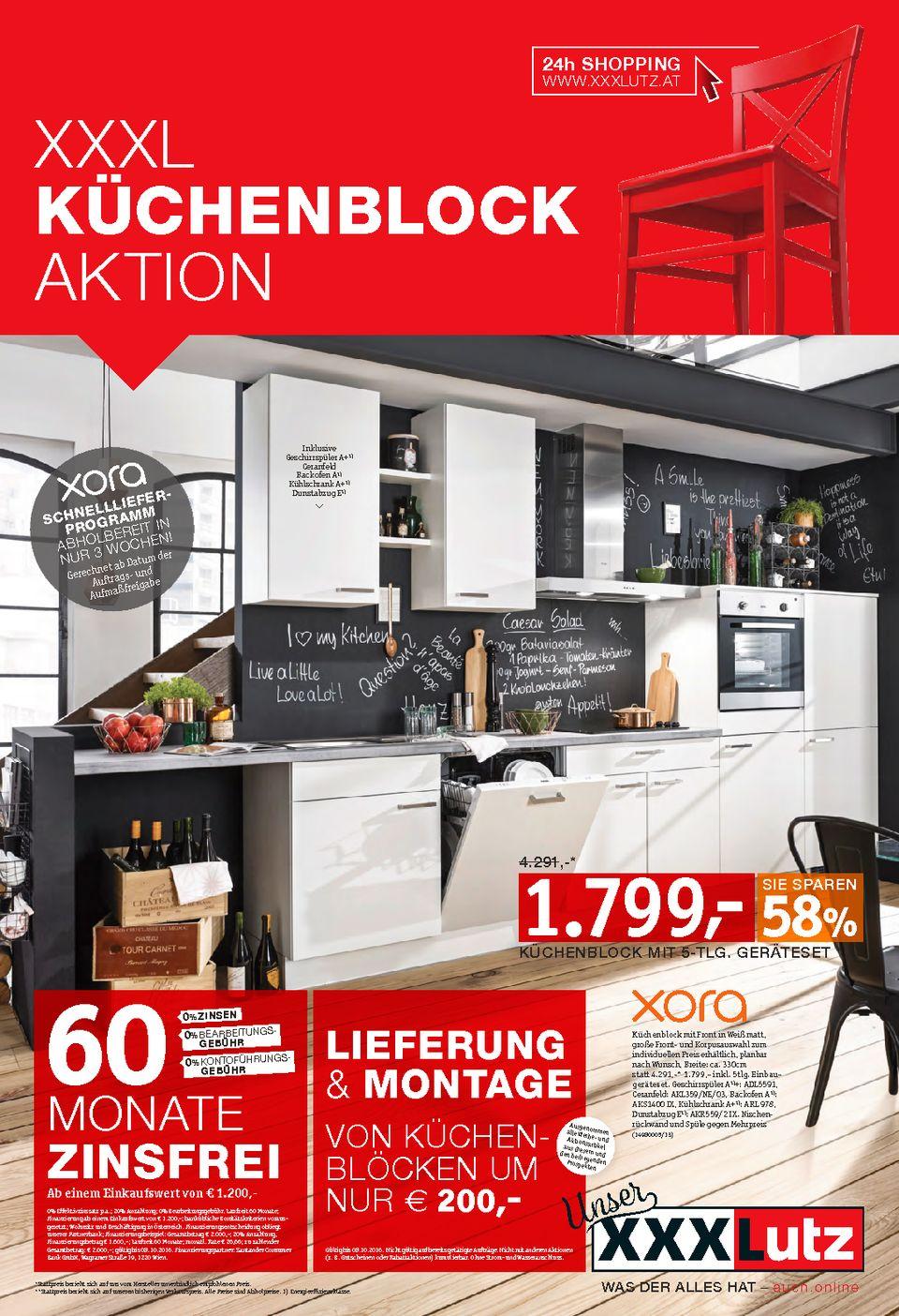 XXXLUTZ XXXL Küchenblock-Aktion