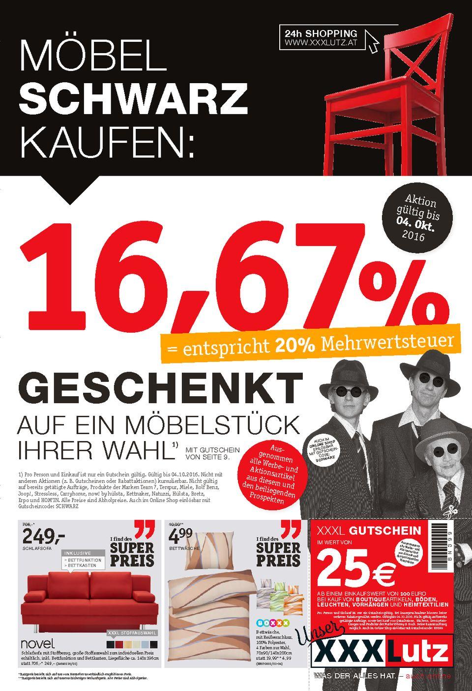 XXXLUTZ Möbel schwarz kaufen